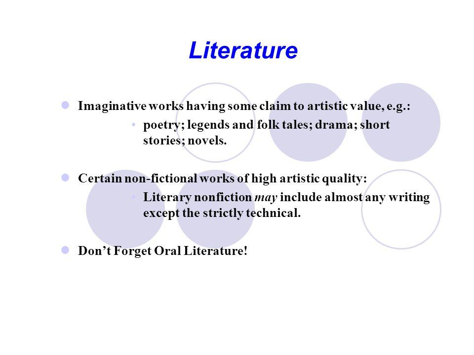 Elements of Literature Content Form