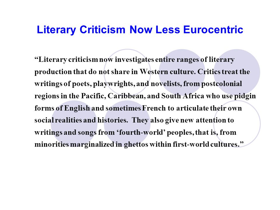 English Studies/Literary Studies is turning more and more into Cultural Studies