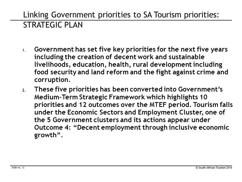 Slide no. 12 © South African Tourism 2010 Slide no.