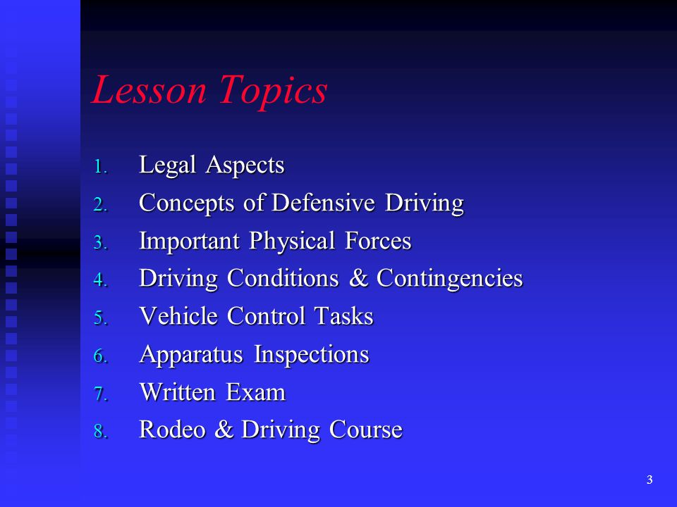 53 Lesson Objectives Describe a procedure for estimating vehicle following distances.
