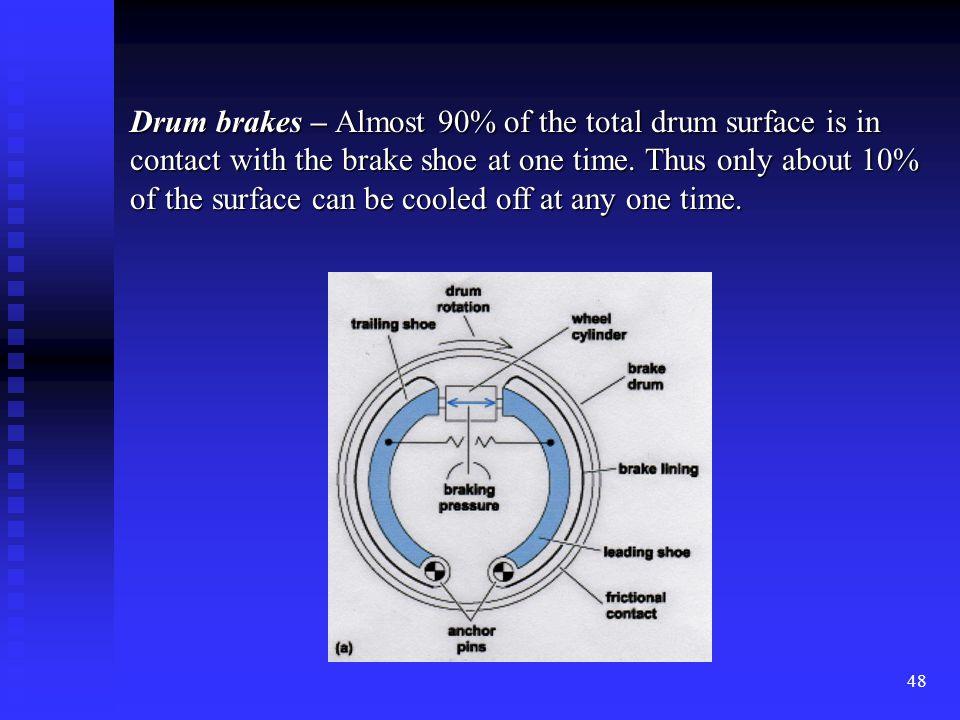 47 Understanding Brake Types Drum brakes Drum brakes Disc brakes