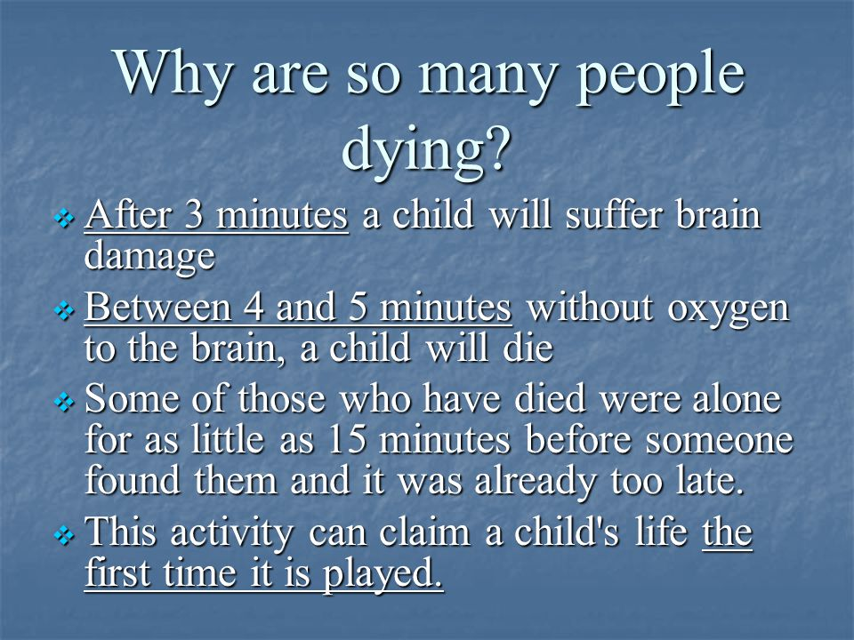 Why are so many people dying.