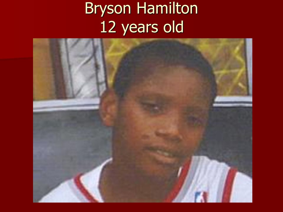 Bryson Hamilton 12 years old