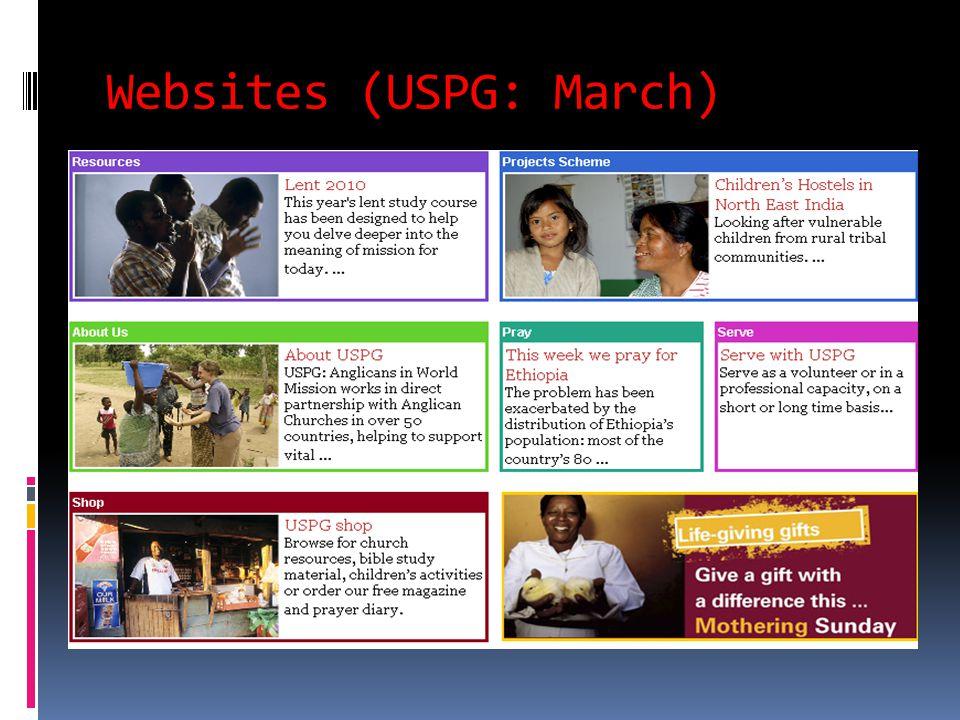 Websites (USPG: March)