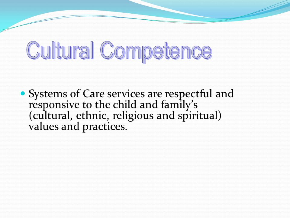 Services are delivered in the community where the child and family live, such as a school or home.