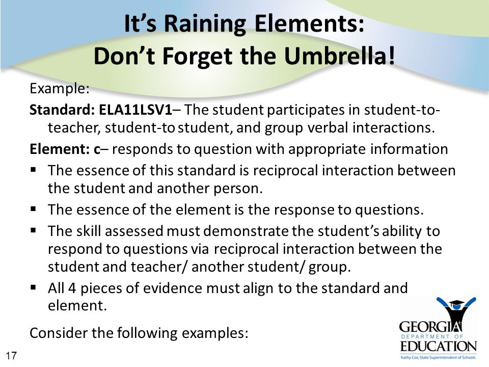 17 It's Raining Elements: Don't Forget the Umbrella.
