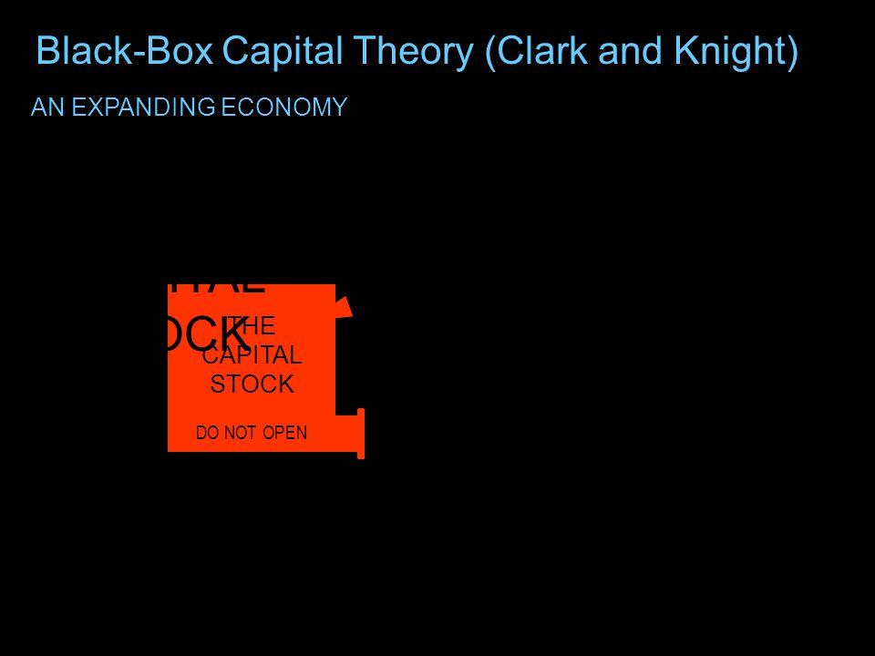 DO NOT OPEN THE CAPITAL STOCK Black-Box Capital Theory (Clark and Knight)