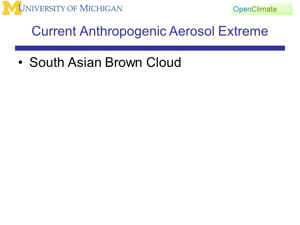 Current Anthropogenic Aerosol Extreme South Asian Brown Cloud