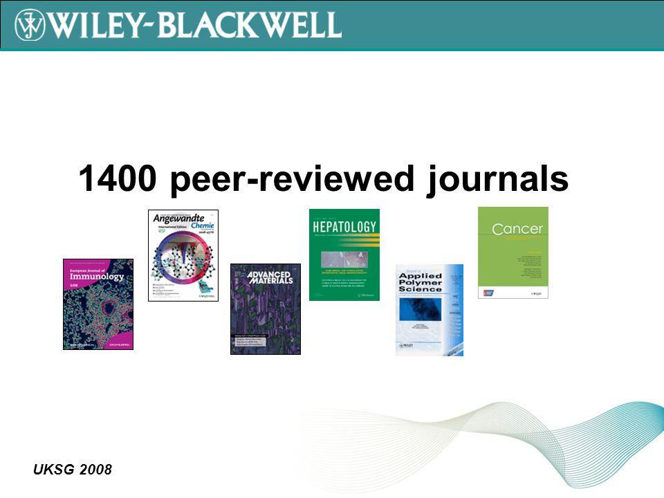 UKSG 2008 1400 peer-reviewed journals