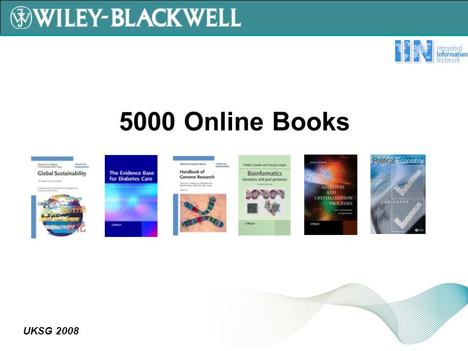 UKSG 2008 5000 Online Books