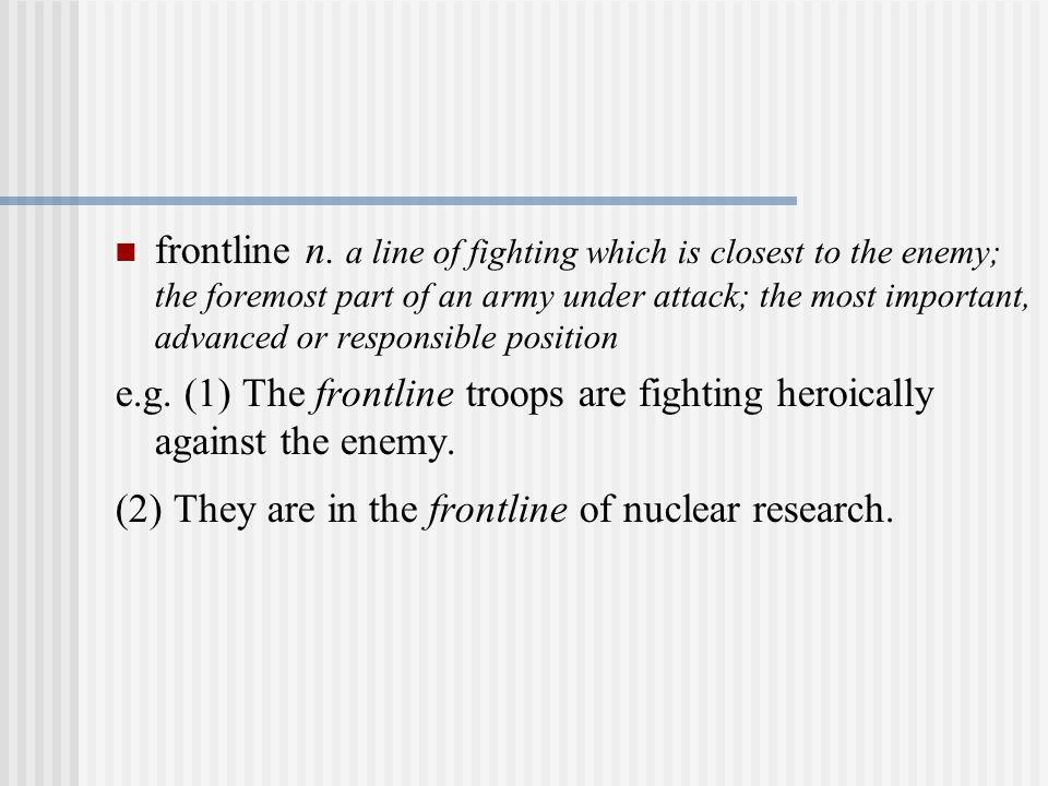 frontline n.