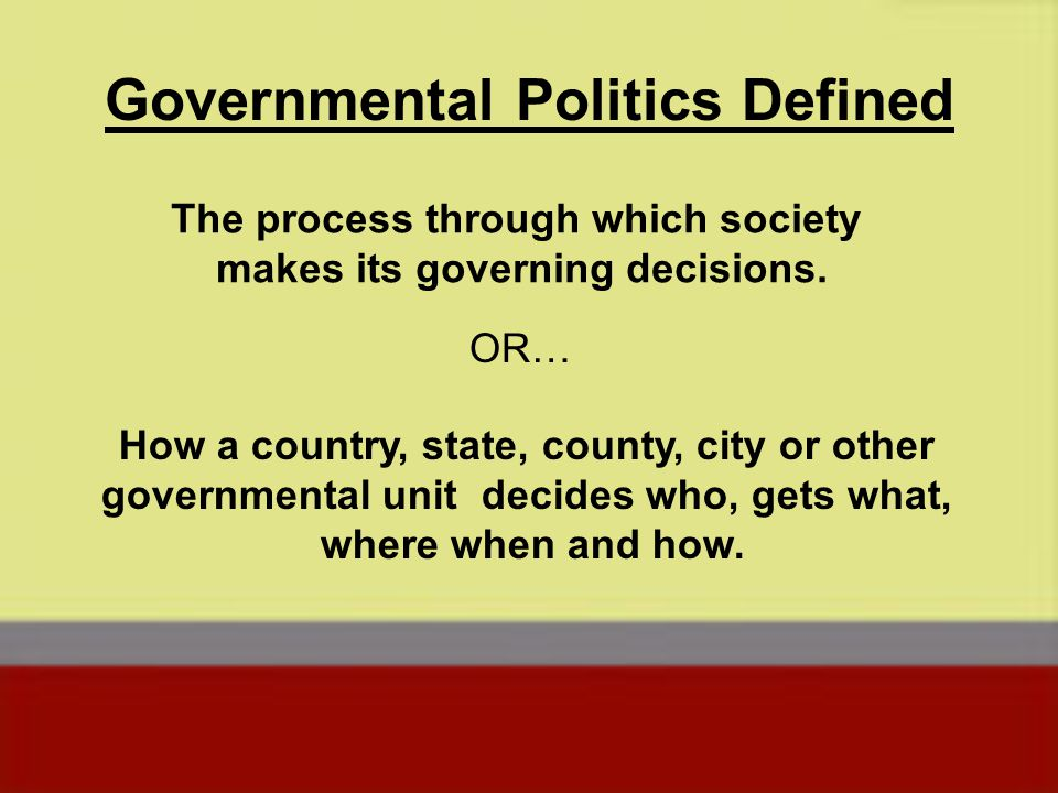In this class we will be looking at how different and individuals attempt to impact the decisions that the various governments in the United States makes.