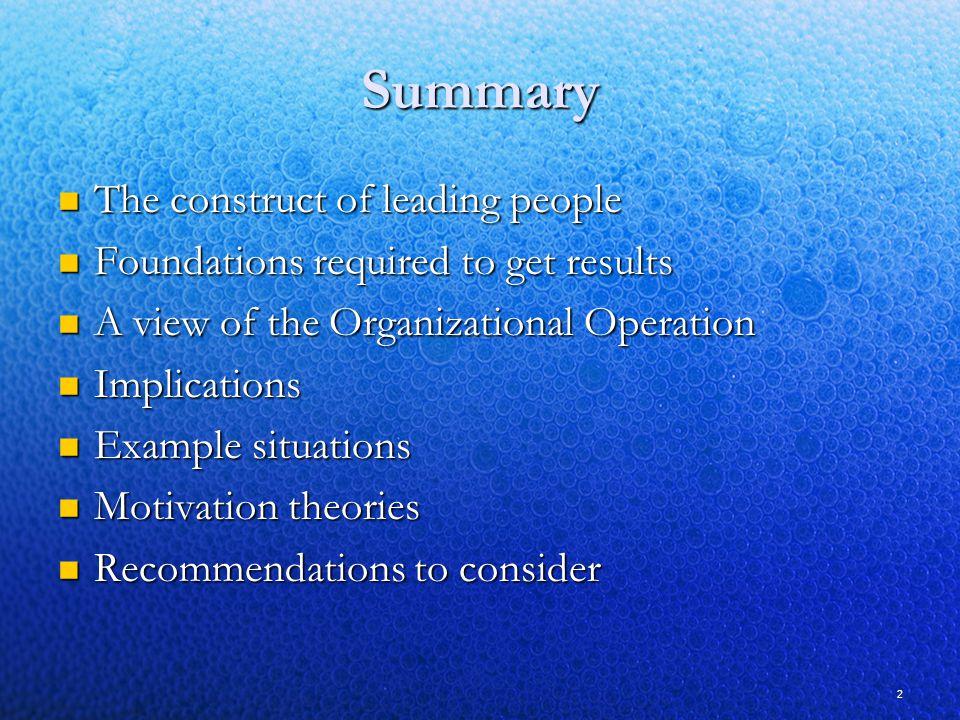 Leading & Managing People Individuals Groups Organization
