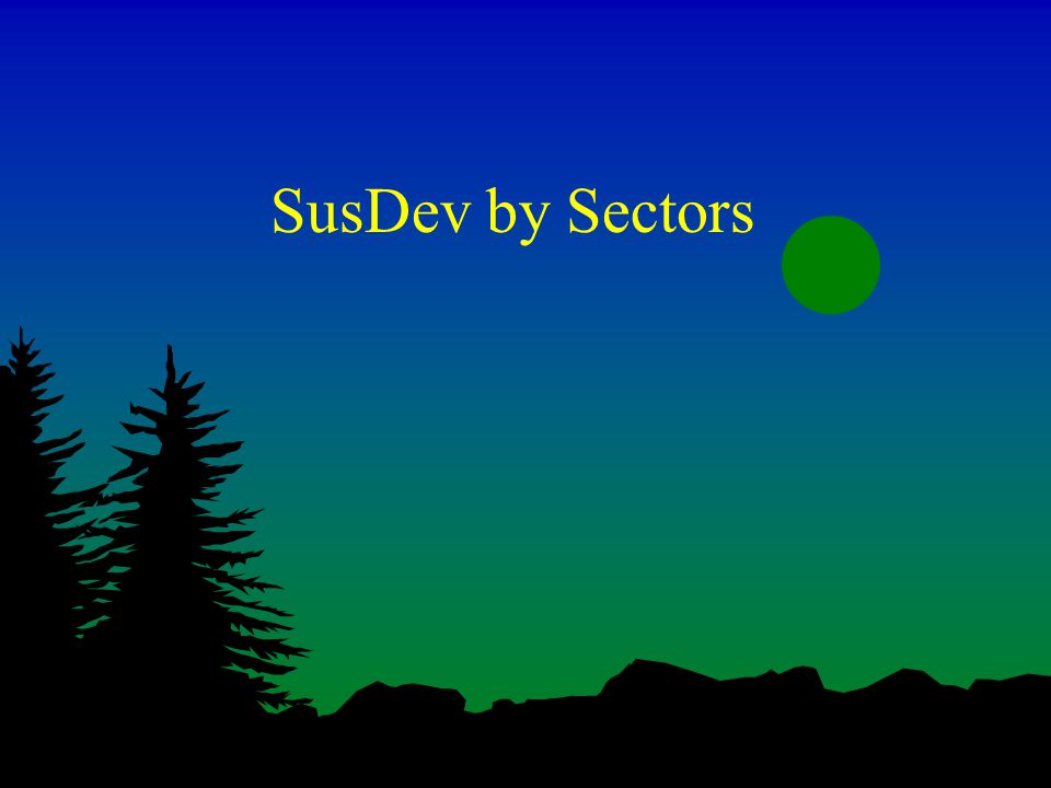 SusDev by Sectors