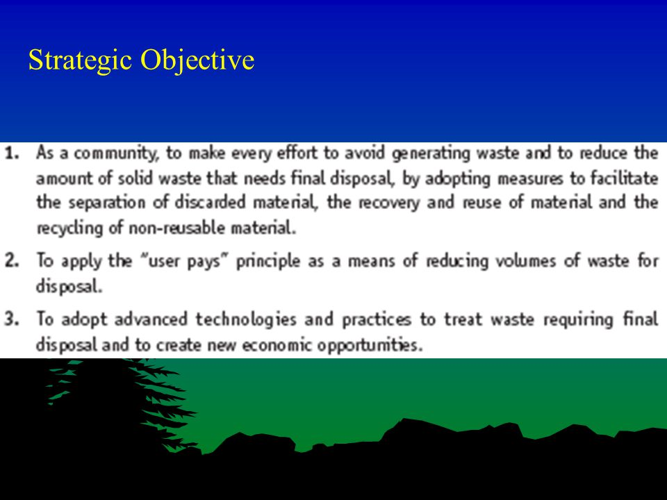 Strategic Objective
