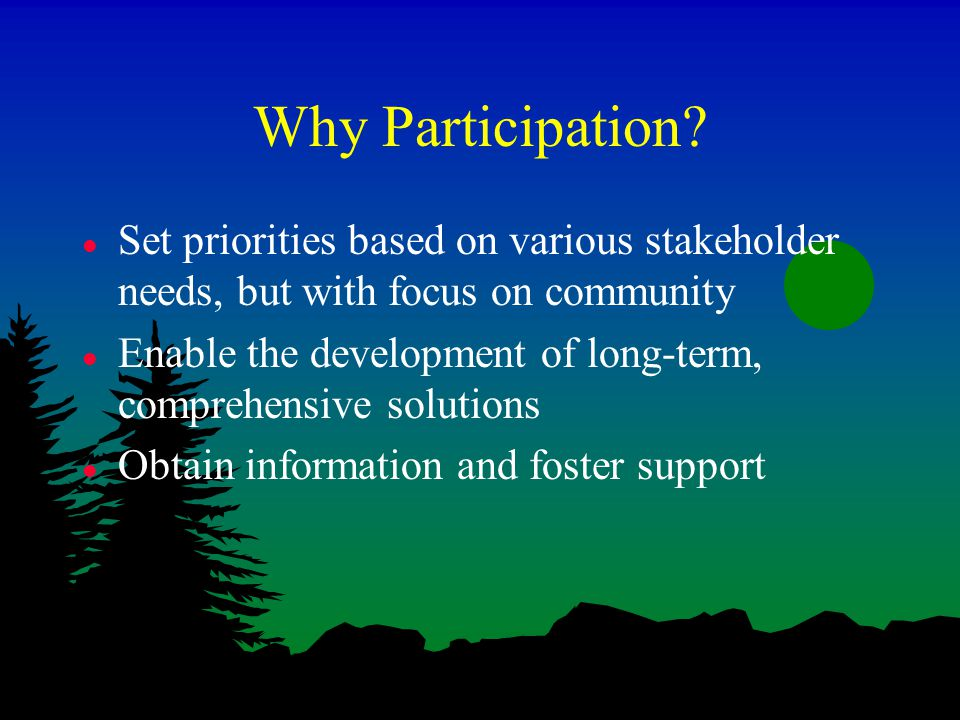 Why Participation.