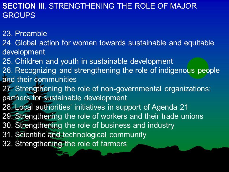 Sectors and Community
