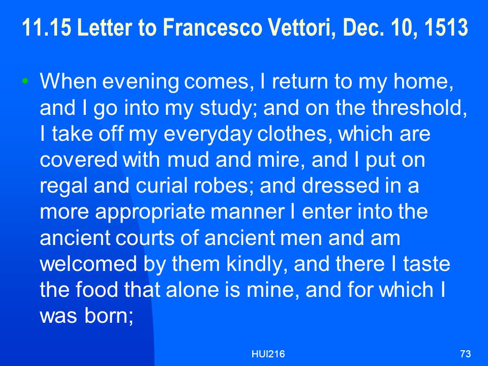 HUI21673 11.15 Letter to Francesco Vettori, Dec.