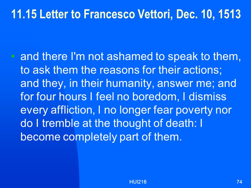 HUI21674 11.15 Letter to Francesco Vettori, Dec.