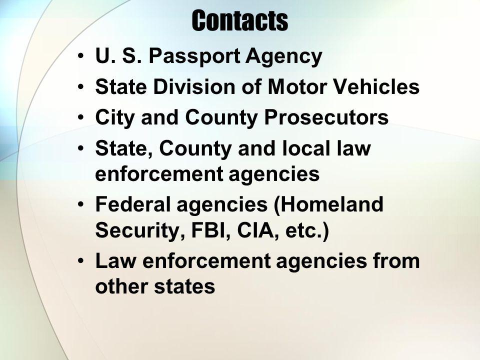 Contacts U. S.