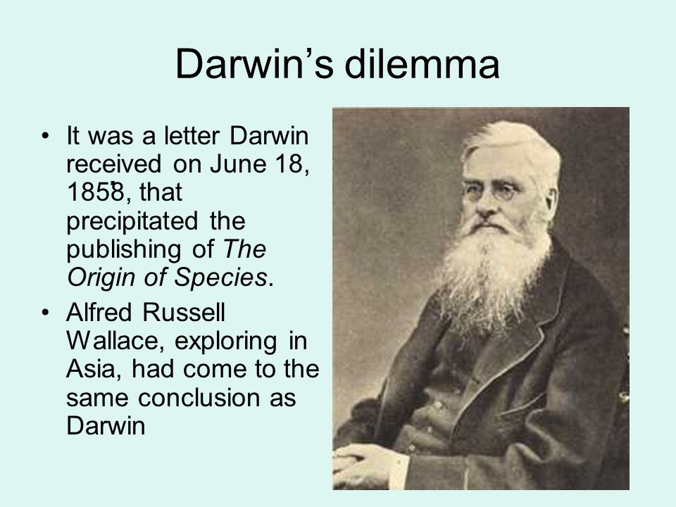 Darwin presumed that populations of individuals changed over time, and, in 1844, he developed the concept of the driving force for evolution. It wasn'