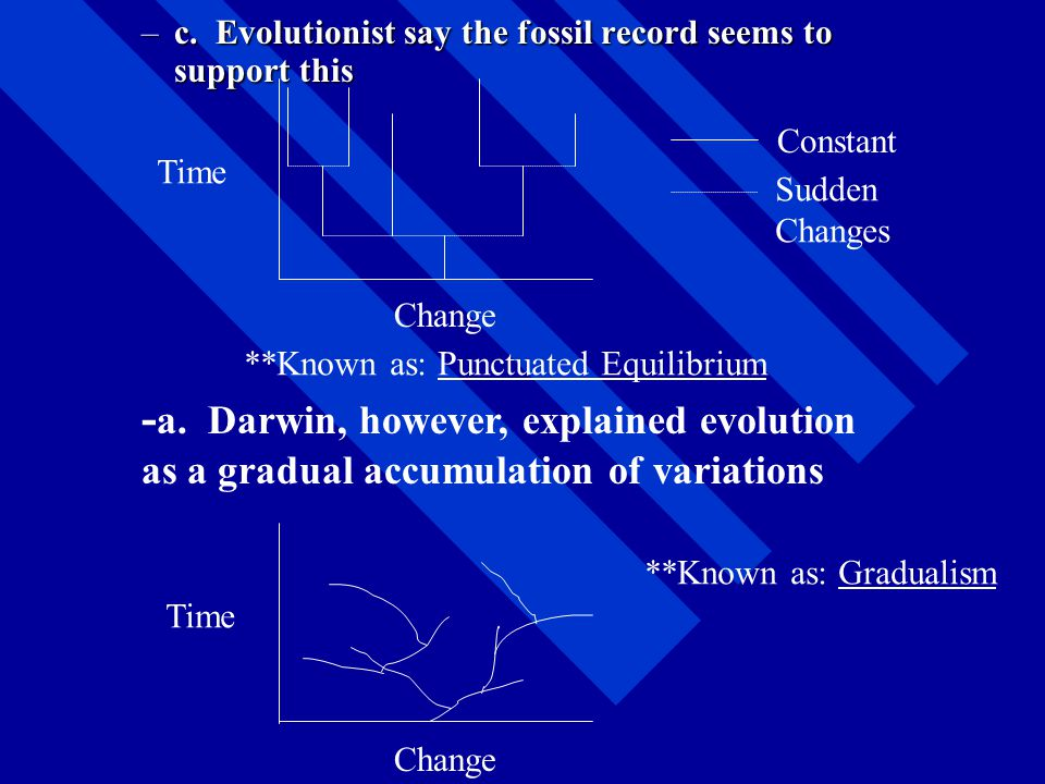 Geological Time- Evolutionist believe the earth to be 4.5 billion years old Evolutionist believe the earth to be 4.5 billion years old –As a result of