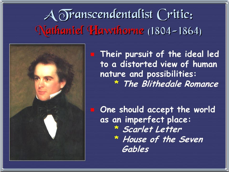 The Transcendentalist Agenda  Give freedom to the slave.
