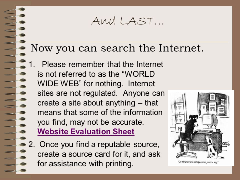 And LAST… Now you can search the Internet.1.