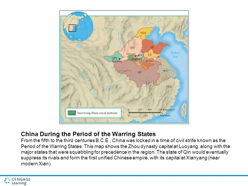 China During the Period of the Warring States From the fifth to the third centuries B.C.E., China was locked in a time of civil strife known as the Pe