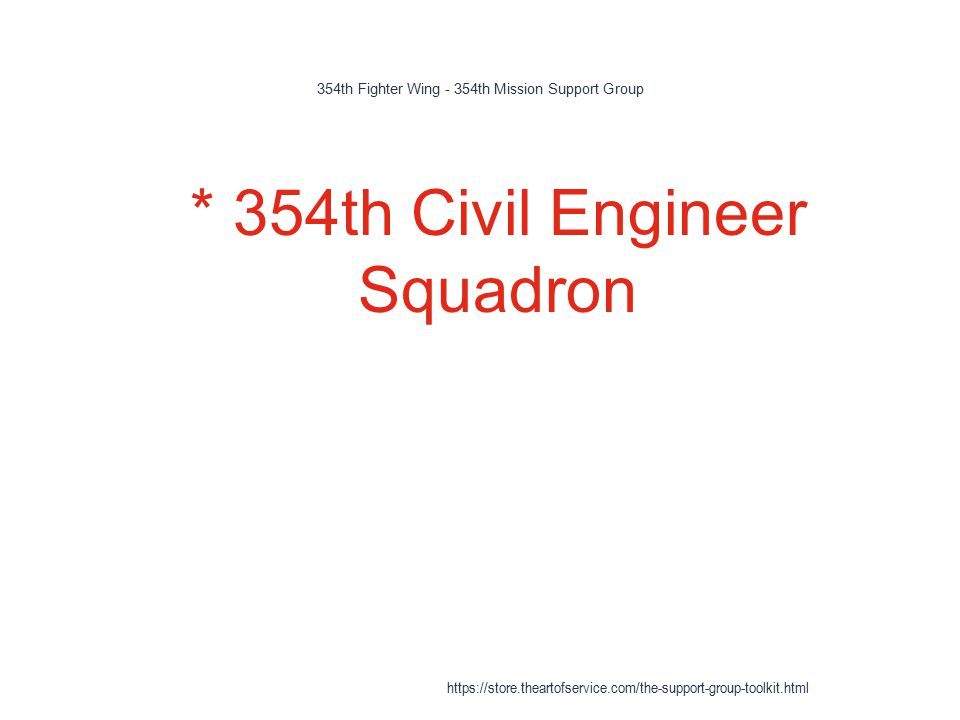 354th Fighter Wing - 354th Mission Support Group 1 * 354th Civil Engineer Squadron https://store.theartofservice.com/the-support-group-toolkit.html