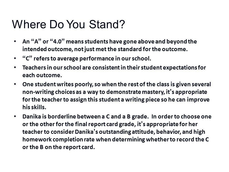Where Do You Stand.