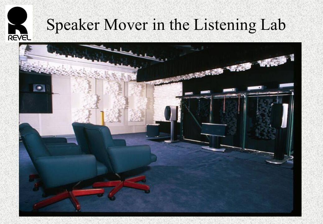 Speaker Mover in the Listening Lab