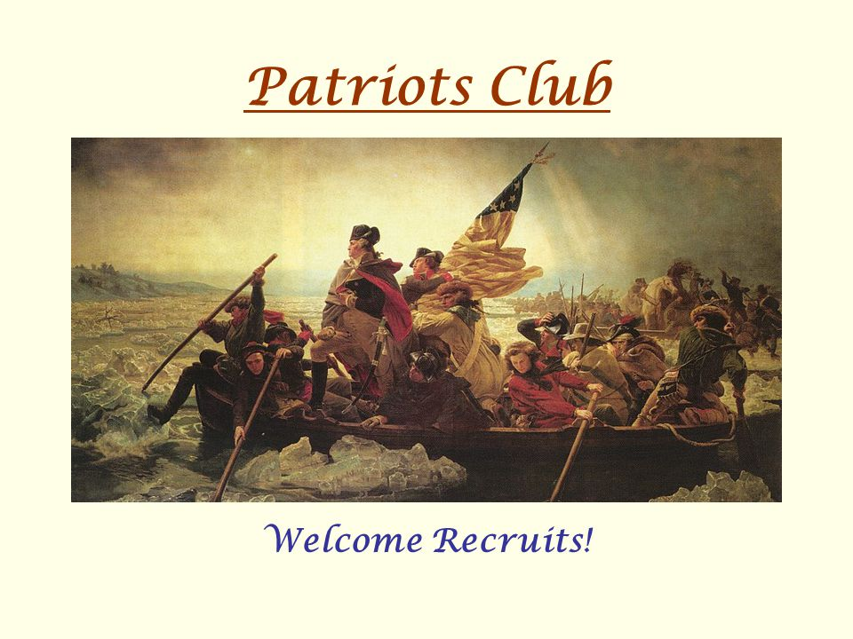 Patriots Club Welcome Recruits!