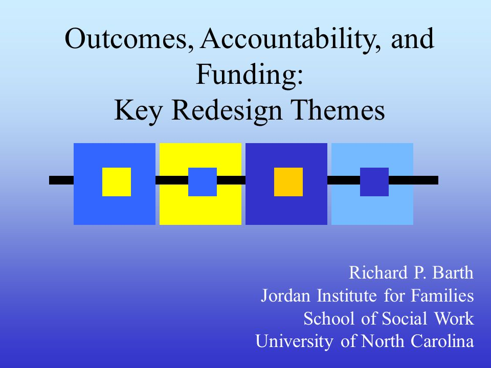 Outcomes, Accountability, and Funding: Key Redesign Themes Richard P.