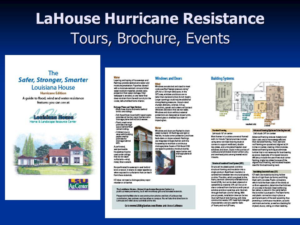 LaHouse Ed.Events & Media since Katrina Est. 7000 toured LaHouse Est.