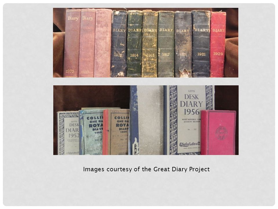 Images courtesy of the Great Diary Project