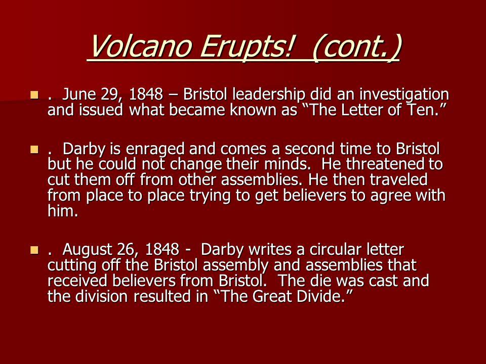 Volcano Erupts. (cont.).