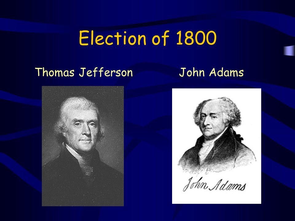 Election of 1800 Thomas JeffersonJohn Adams