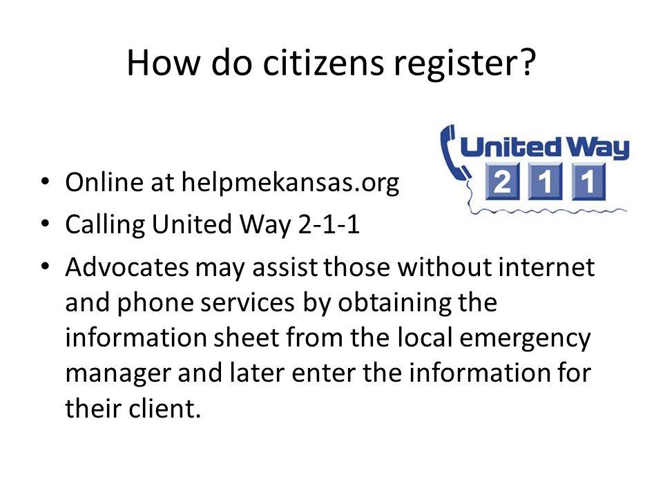 How do citizens register.