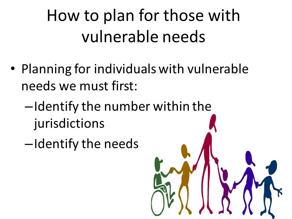 Vulnerable Needs Population Percentage Per Region 95,061 38,739 134,349 22,557 96,66623,146 16,190