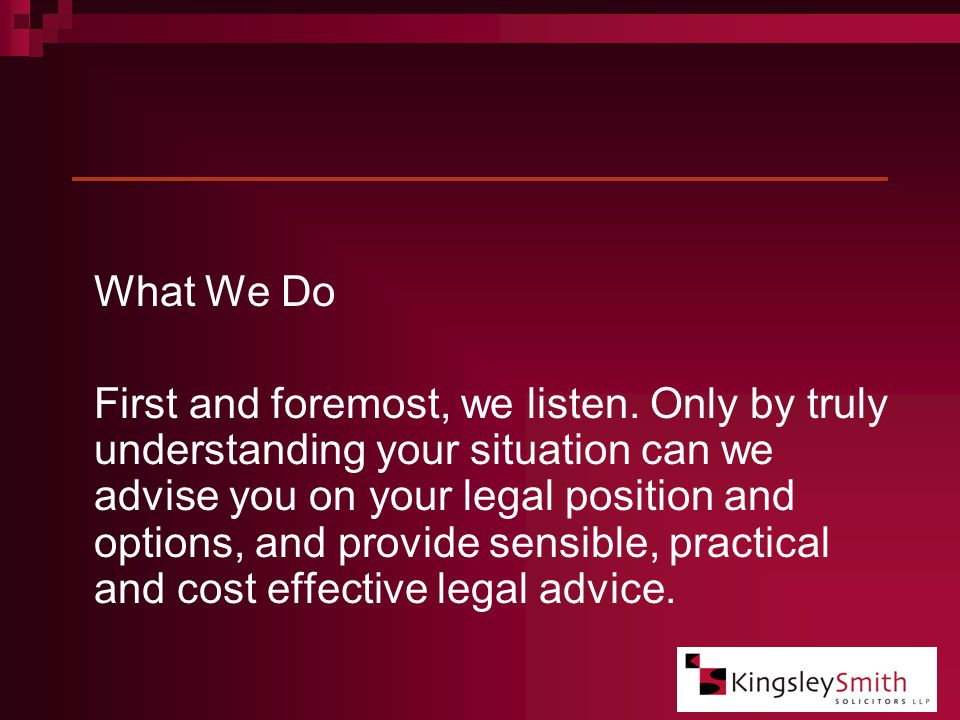 Our Commitment to you as a Client.