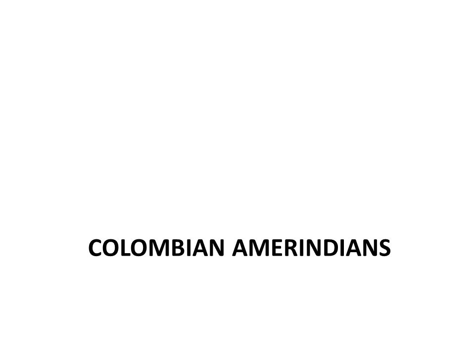 COLOMBIAN AMERINDIANS