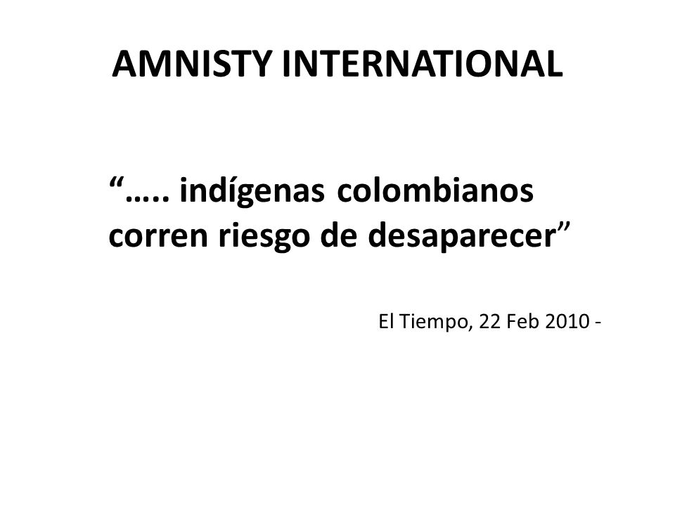 AMNISTY INTERNATIONAL …..
