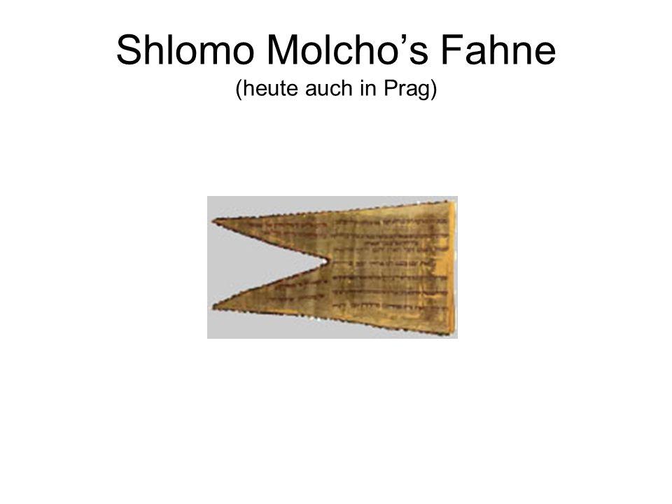 Shlomo Molcho's Fahne (heute auch in Prag)