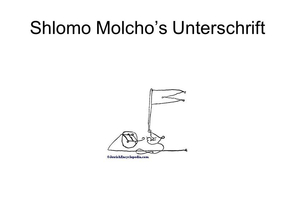 Shlomo Molcho's Unterschrift