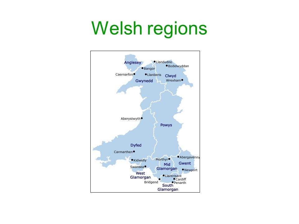 Welsh regions