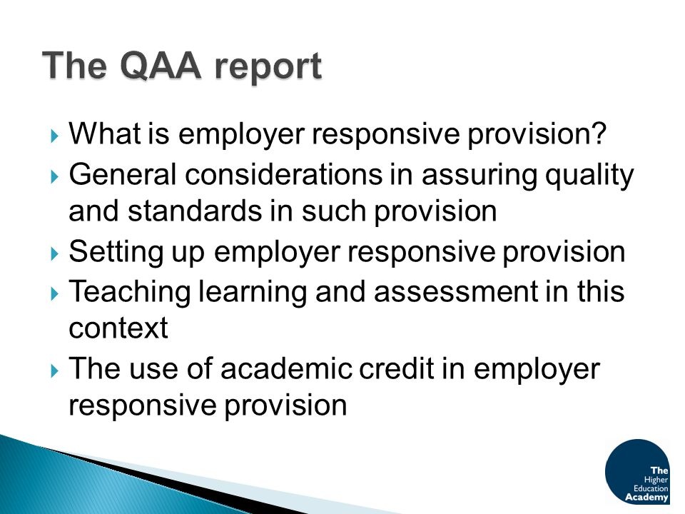  What is employer responsive provision.