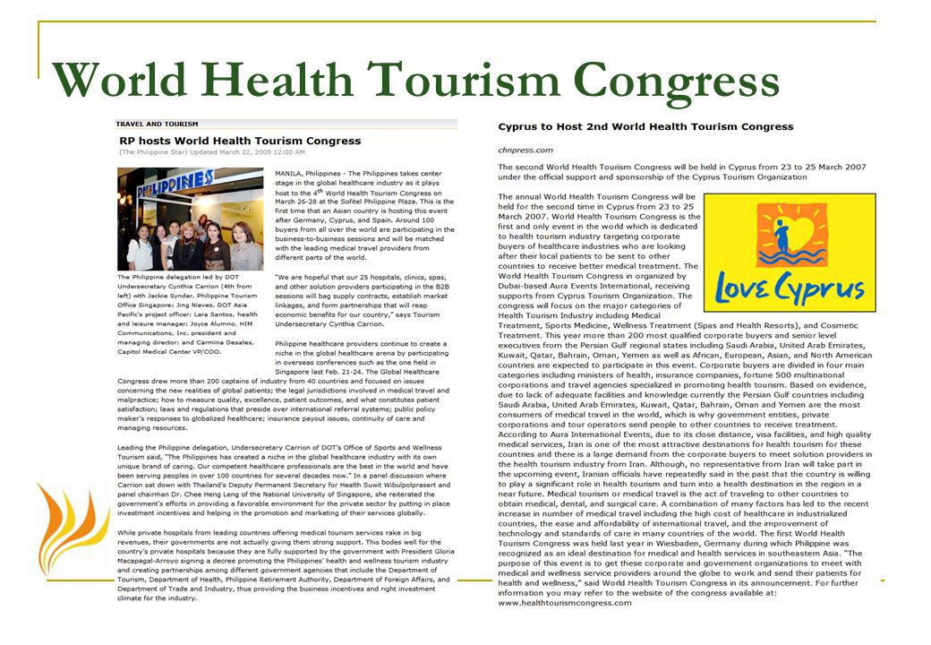 World Health Tourism Congress