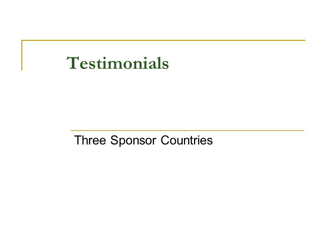 Testimonials Three Sponsor Countries