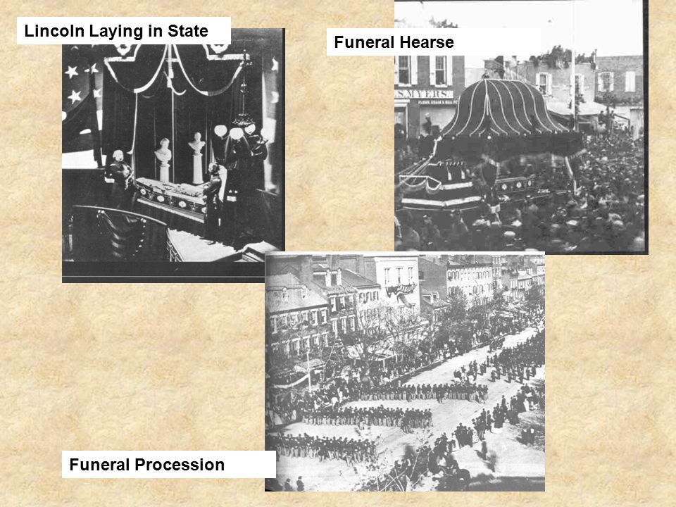 Lincoln Laying in State Funeral Hearse Funeral Procession
